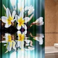 3д фотошторы для ванной Флорисса