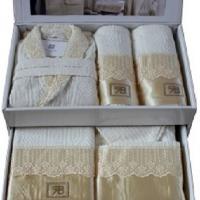 Семейные халаты с полотенцами и тапочками Пенил 25 пр.