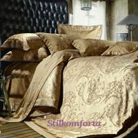 Постельное белье тенсел жаккард Burgundy decor F11