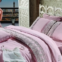 Элитное постельное белье евро Гларина розовое