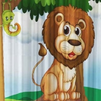 Шторы с детским рисунком Друзья