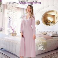 Ночная сорочка c длинным рукавом модал Арина