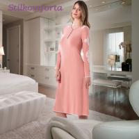Ночная сорочка c длинным рукавом модал Аманда