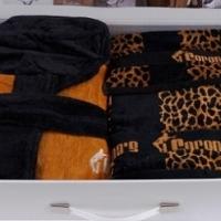 Махровый халат и 3 полотенца Фаби