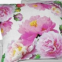 Стильная декоративная подушка Розовые пионы