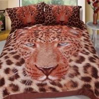 Покрывало стеганое сатин Леопард