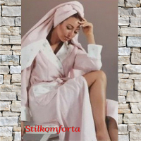 Махровый женский халат с тапочками Баттерфляй лонги