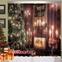 Новогодние шторы / тюль Рождественская ночь