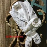 Махровый халат мужской и тапочки Фарин