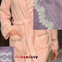 Бамбуковый женский халат тапочки Ланг