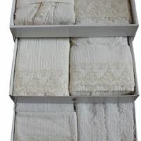 Элитный комплект халатов для молодоженов Наоми  25