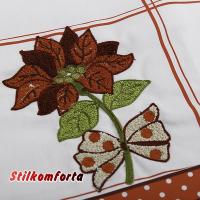 Новогодняя скатерть с вышивкой Эмма 140х240