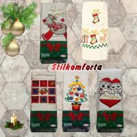 Набор подарочных новогодних полотенец бежевый Мидал