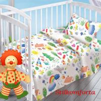 Детское постельное белье в кроватку Веселая радуга