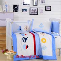 Ясельное постельное белье в кроватку в Морском стиле