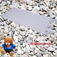 Детский плед хлопок голубой 009