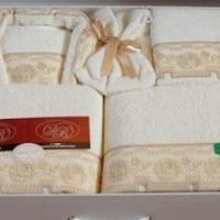 Мужской и женский халат полотенца  Женевра 14 предметов