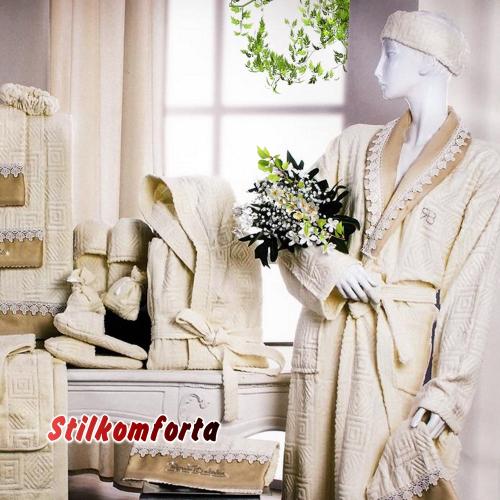 Набор халатов с полотенцами Чечил